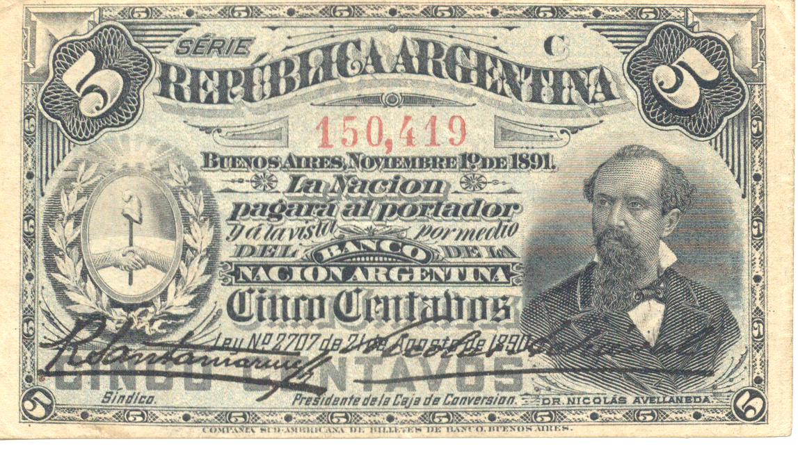 Currency from Argentina, 1891