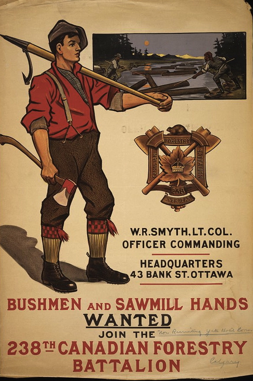 Canadian Forestry Battalion, WWI