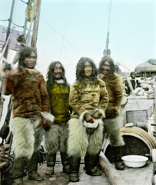 When men wore fluffy pants: Natives of Greenland, 1903