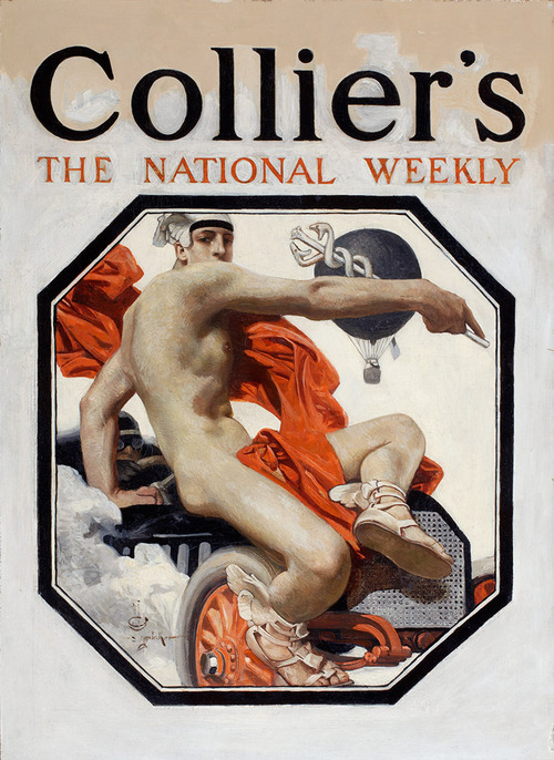 Leyendecker illustration on the cover of ColliersMagazine