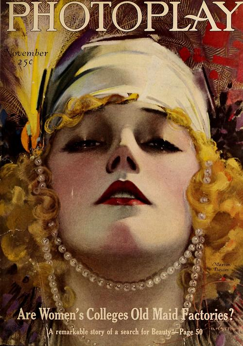 Marion Davies on the cover of Photoplay,1927