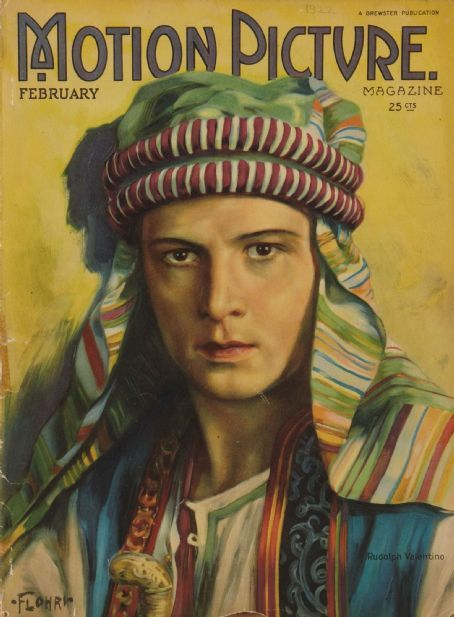 """Rudy Valentino on the cover of """"MotionPicture"""""""