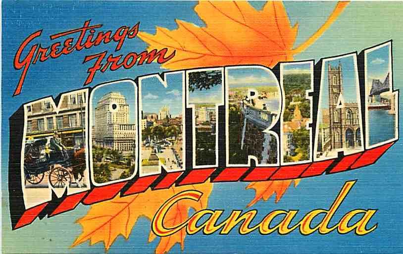 Montreal postcard, 1940s