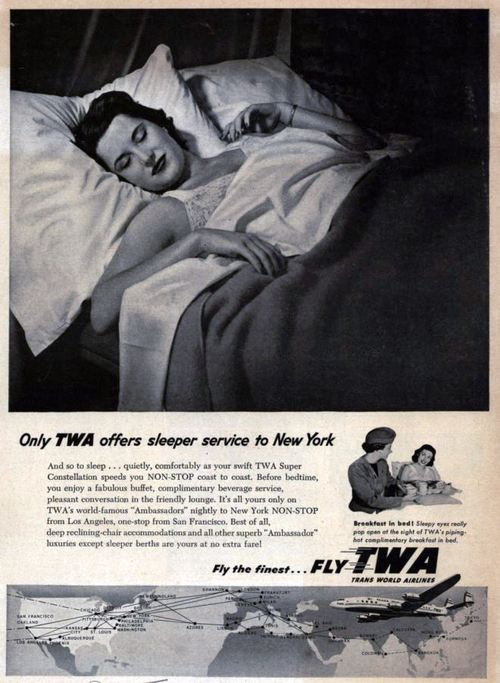 airplane TWA sleeper
