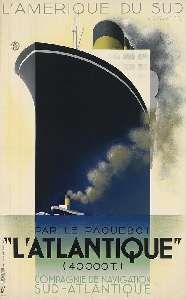 """L'Amerique du Sud par le paquebot """"L'Atlantique"""""""