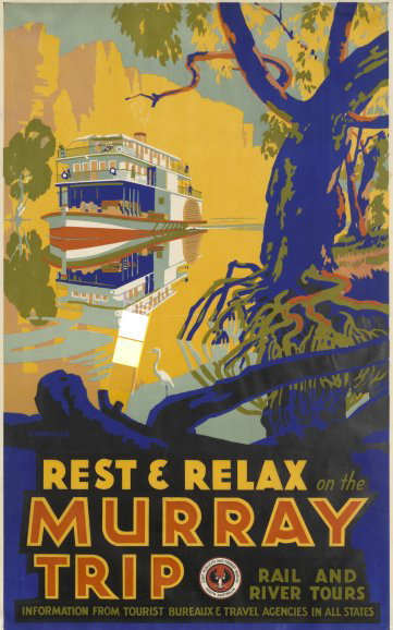 Old Australian travel poster