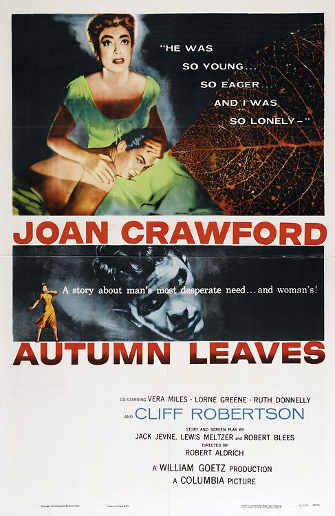 "Joan Crawford in ""Autumn Leaves"""