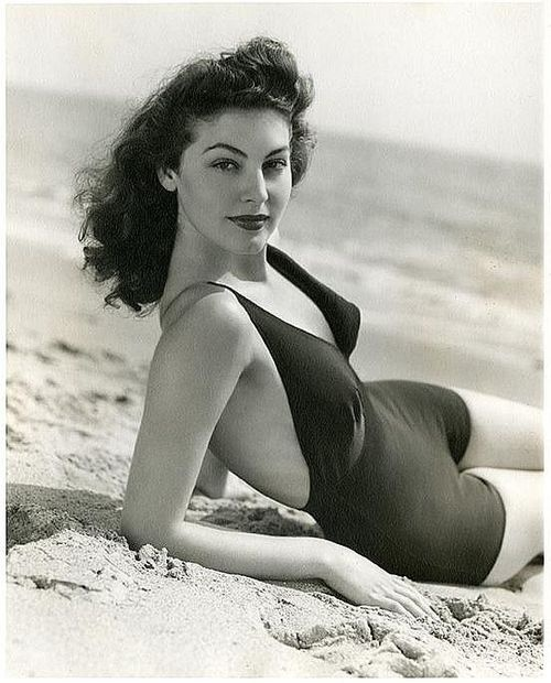 Ava Gardner at thebeach