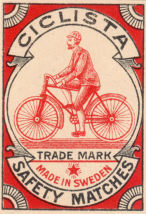 Ciclista Safety Matches,Sweden
