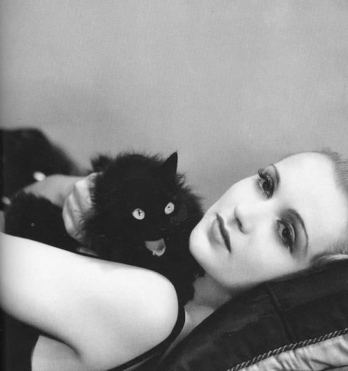 carole lombard and black cat