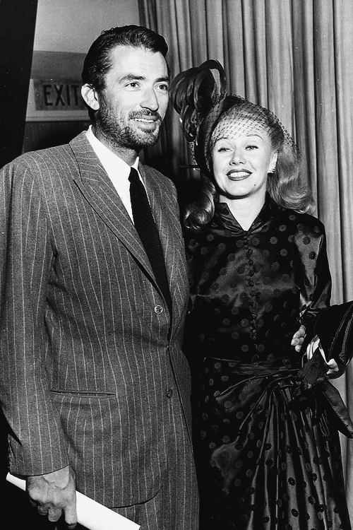 Gregory Peck (with a beard!) and GingerRogers