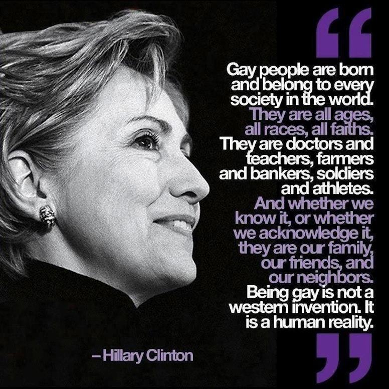 Hilary Clinton onGays