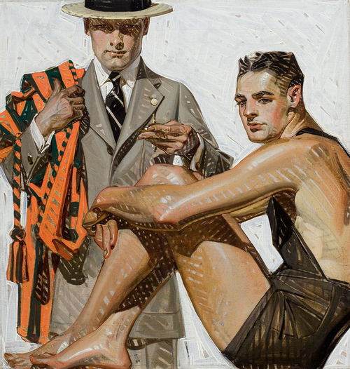 JC Leyendecker men's swimsuit illustration