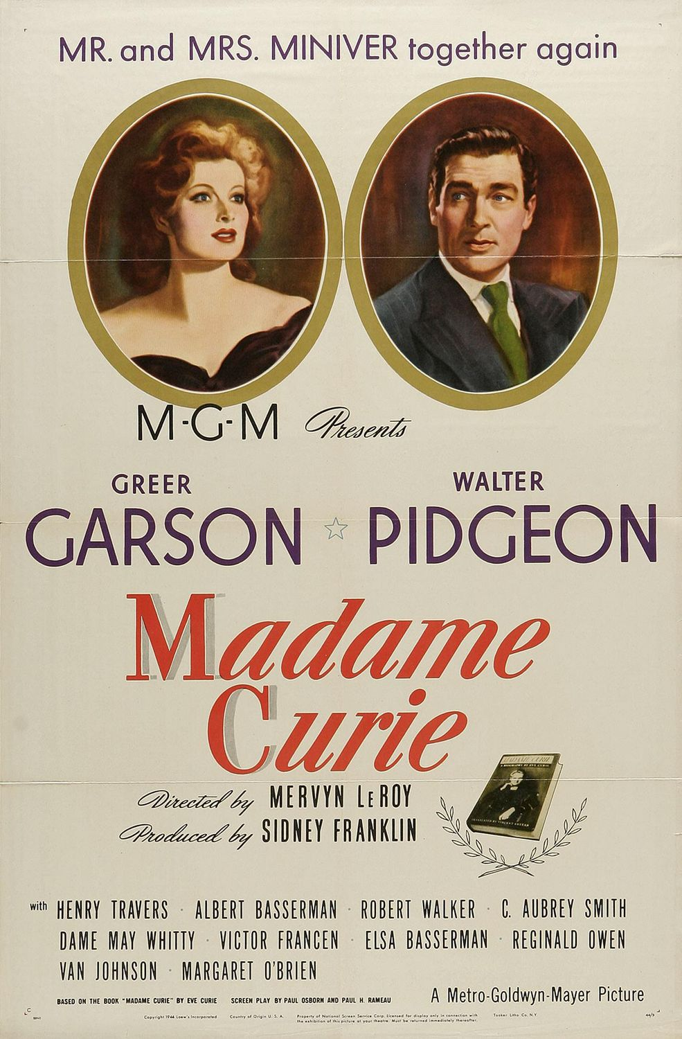 Greer Garson as Madame Curie