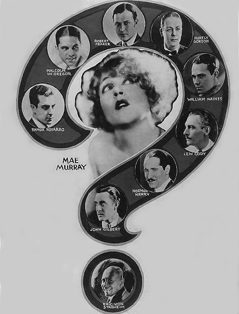 Mae Murray pondering her choice of leading man