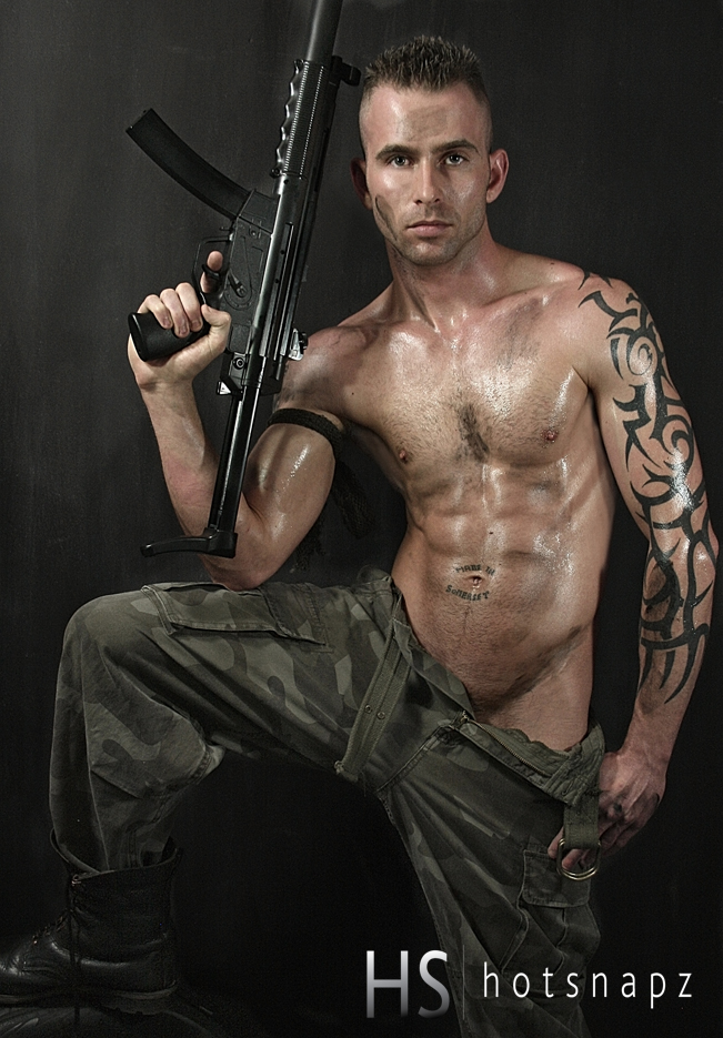 Gratuitous Shirtless Soldier