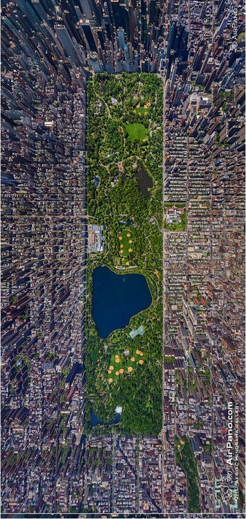 Central Park, NYC, from theair