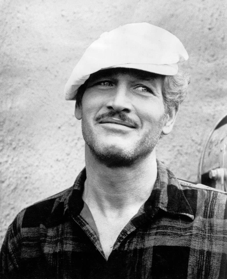 Paul Newman with amoustache
