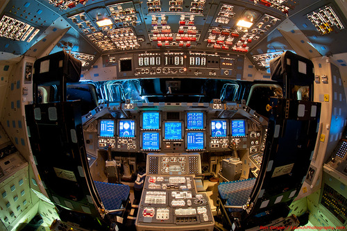 Inside an old US Space Shuttle