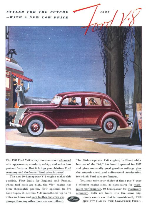 1937 Ford: Styled for thefuture