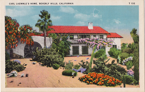 Post cards of movie stars homes in hollywood 1930s for Movie stars homes in beverly hills