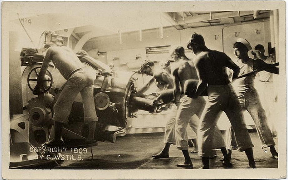Shirtless Sailors, 1909