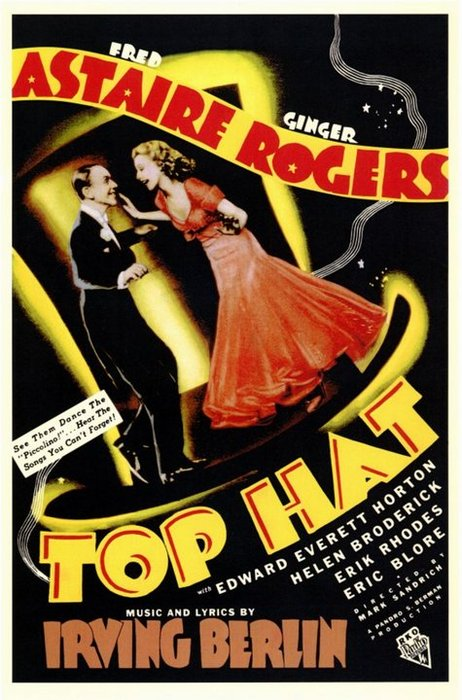 """Fred Astaire and Ginger Rogers in """"TopHat"""""""