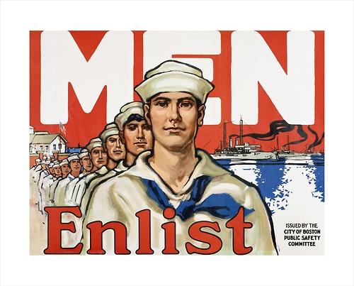 Men, Enlist in the US Navy(Boston)