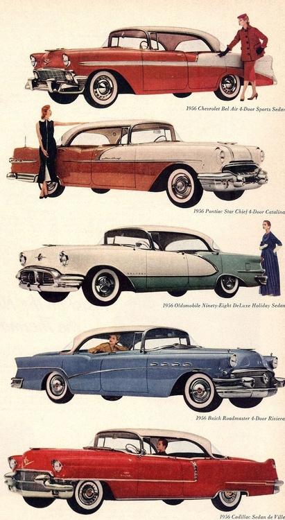 1956 GM automobiles