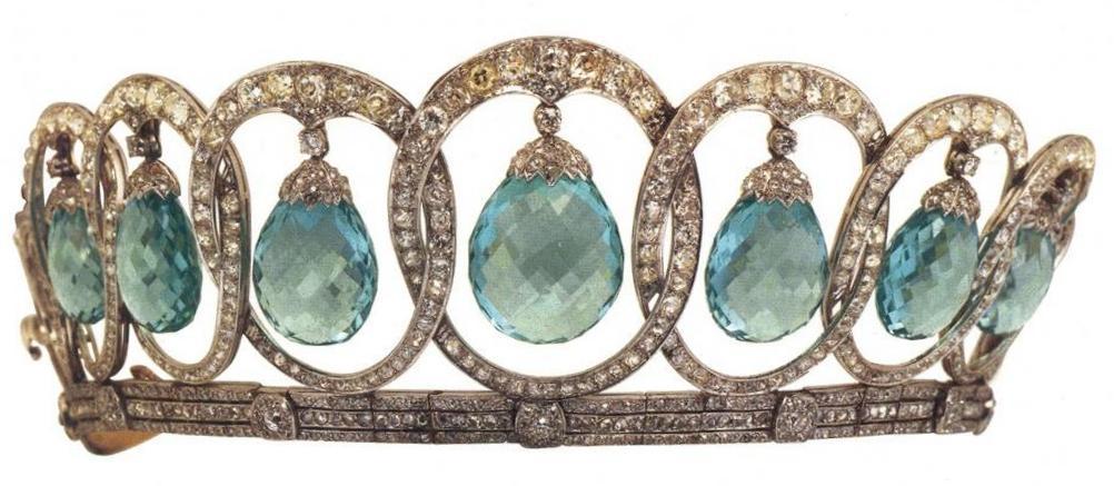 Aquamarine tiara