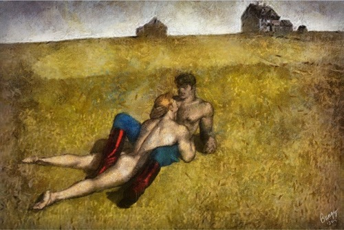 Tom of Finland/Andrew Wyeth mash up