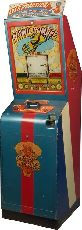 Atomic Bomber Arcade Game, 1940s