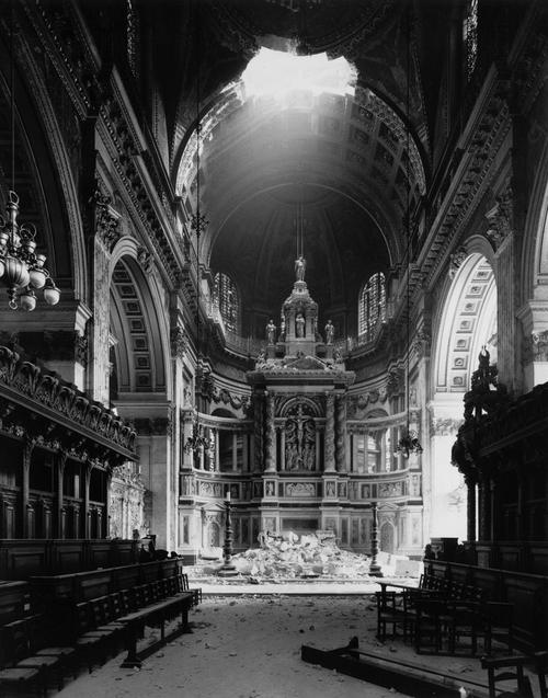 Bombed Cathedral, WWII