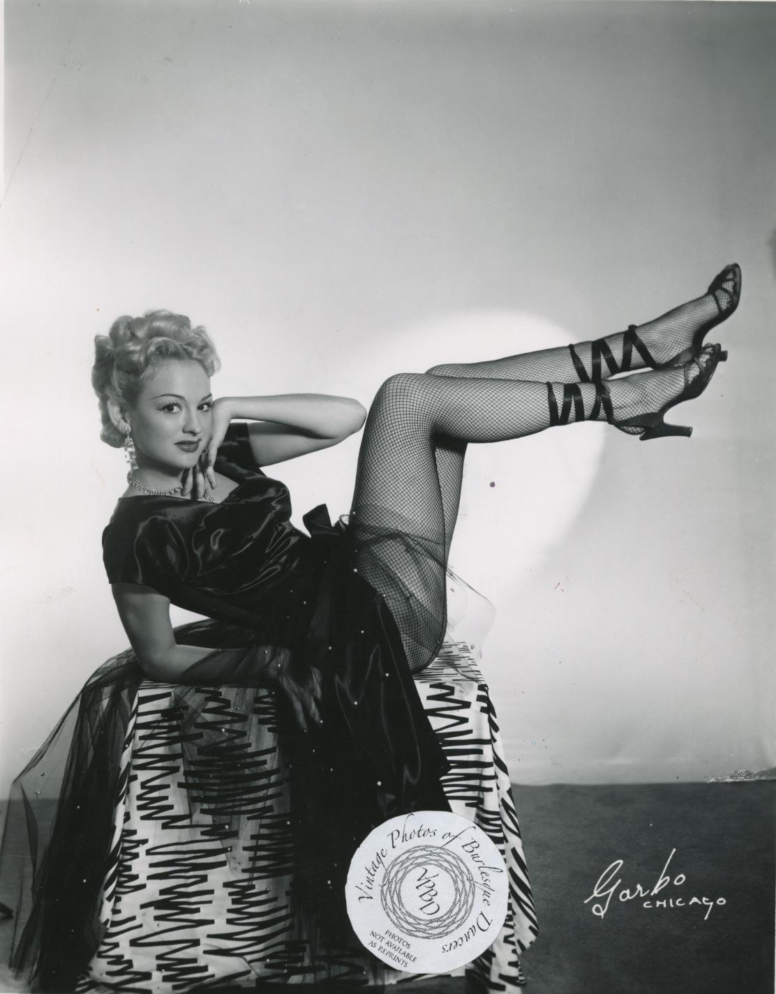 Burlesque star, 1940s