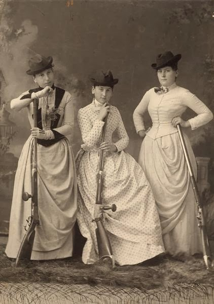 Women, with rifles, circa 1889