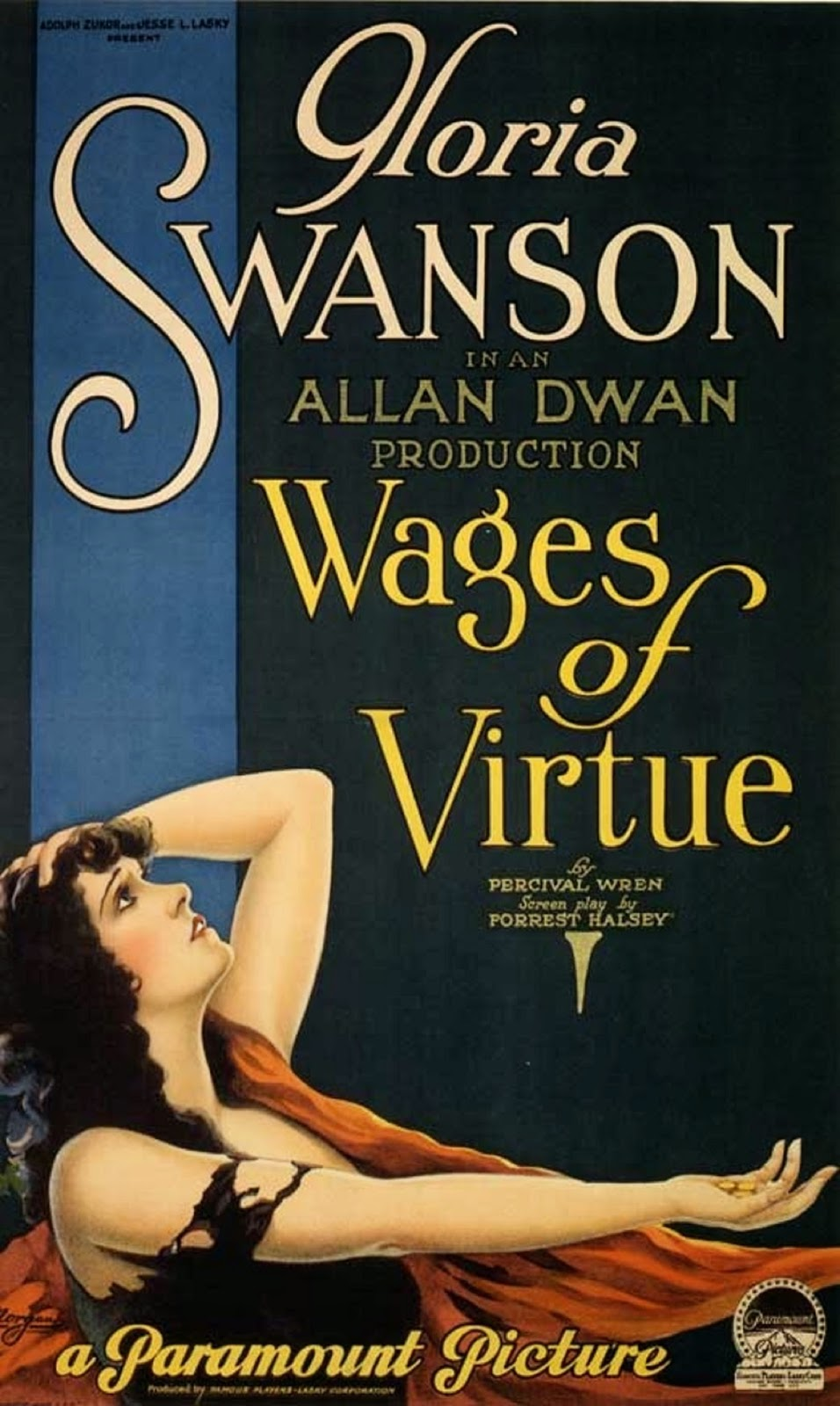 "Gloria Swanson in ""Wages of Virtue"""