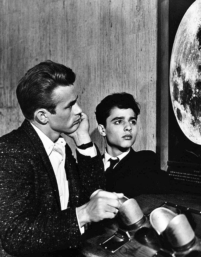 "James Dean and Sal Mineo in ""Rebel Without a Cause"""