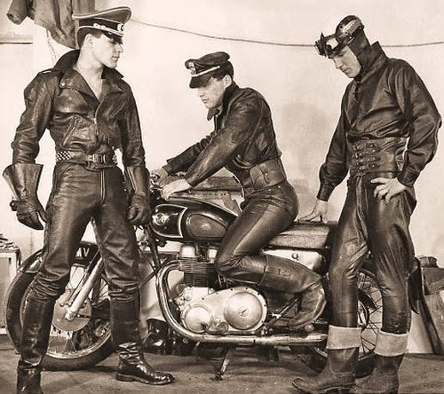 1950s Leather-clad motorcycle men