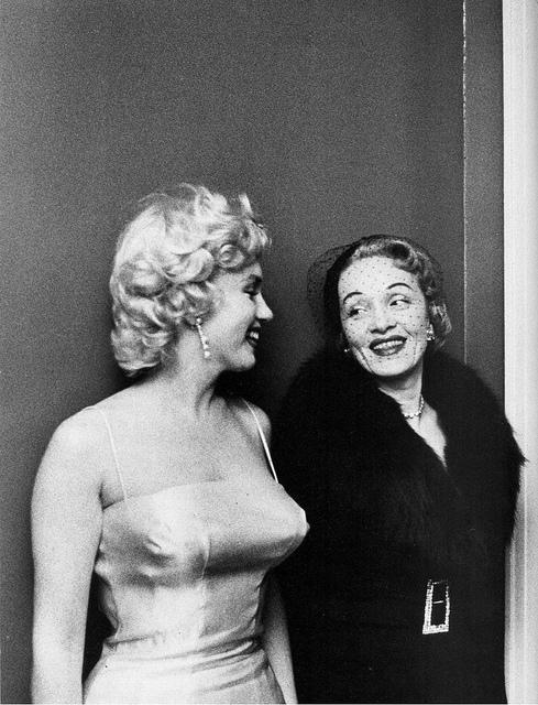 Marilyn Monroe and Marlene Dietrich,1955