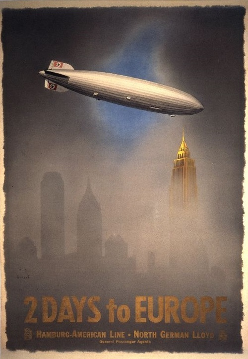 Transatlantic crossings in only 2 days via Nazi Zeppelin, 1930s