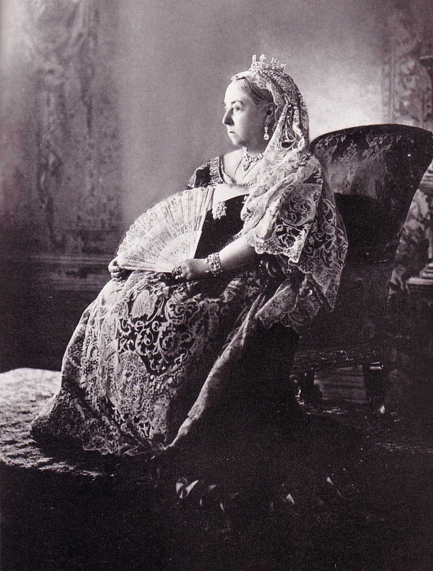 Queen Victoria in lace and diamonds