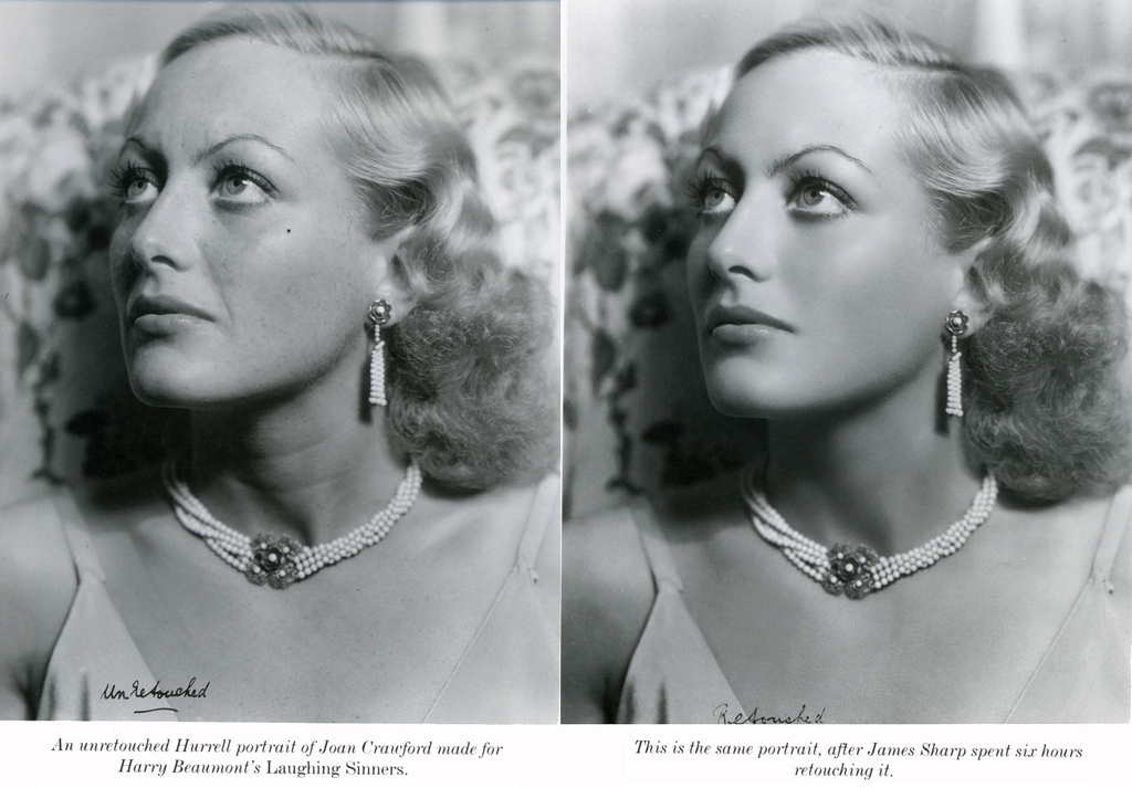 Joan Crawford – As Is and Retouched