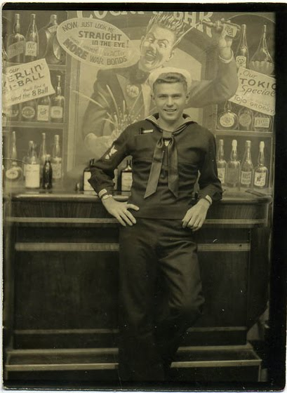 Sailor at a bar
