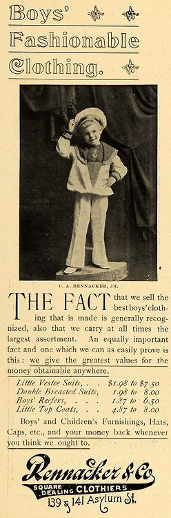 Boys' sailor outfit, circa 1900