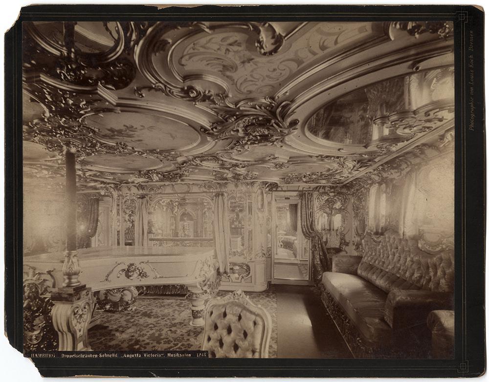 Interior of a trans-Atlantic Hamburg-Amerika line ship,1880s
