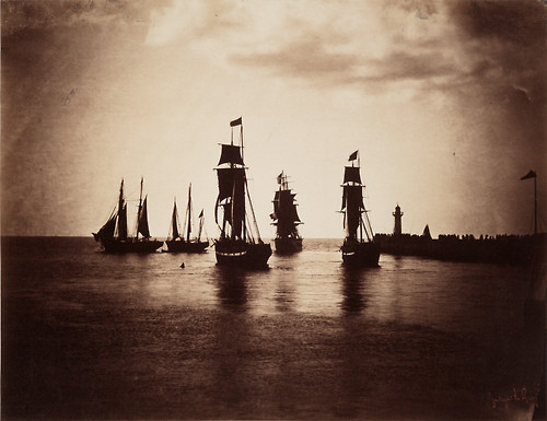 Ships at Le Havre, France (1857)