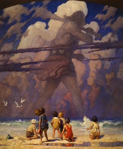"N.C. Wyeth, American Painter, ""The Giant"", 1923"