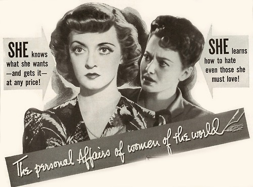 Not sure what movie this is referring to or who the two woman are except that the one on the left looks like BetteDavis