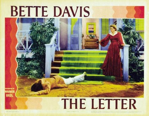 The Letter, starring Bette Davis,1940