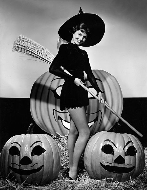 Cyd Charisse Halloween Photo, 1940s